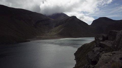 Tama Lakes Area in New Zealand