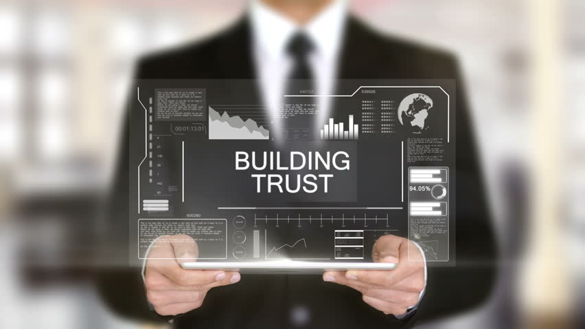 Building Trust, Businessman with Hologram concept | Shutterstock HD Video #1011267356
