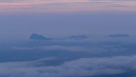 mornig time view of Phu Kradueng National Park  1200 msl, Loei province, Thailand