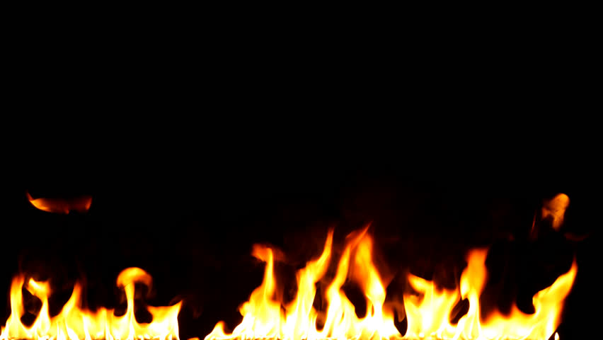 Fire Flames  - Slow Motion.Real flames ignite on a black background. Real fire. Transparent background. PNG + Alpha channel #1011345956