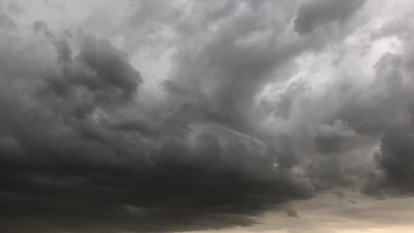 Storm clouds Time lapse supercell dark storm Swirling clouds moving fast Electrical viewer thunderstorm cloud Hurricane landfall winds, storm HUGE flooding along Lightning Strikes Rain Drops Falling