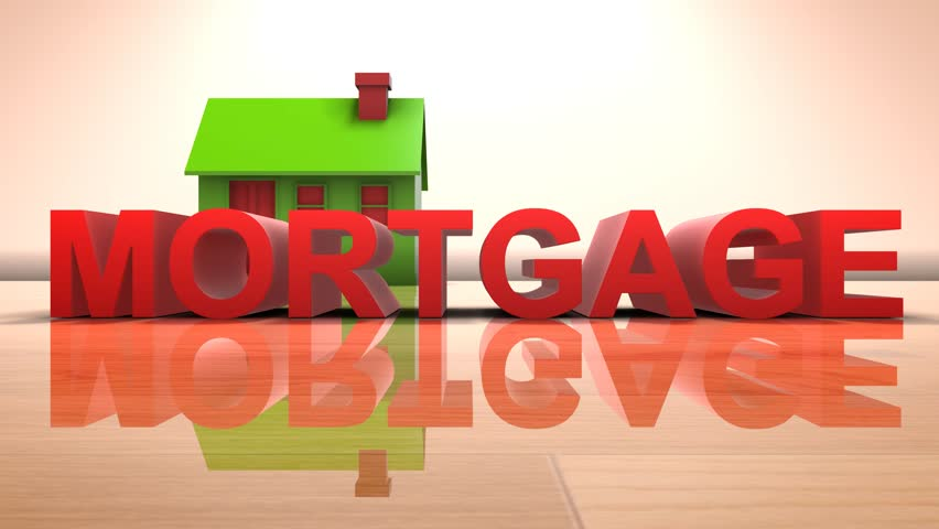House mortgage home loan for real estate housing property 3D title | Shutterstock HD Video #1011397376