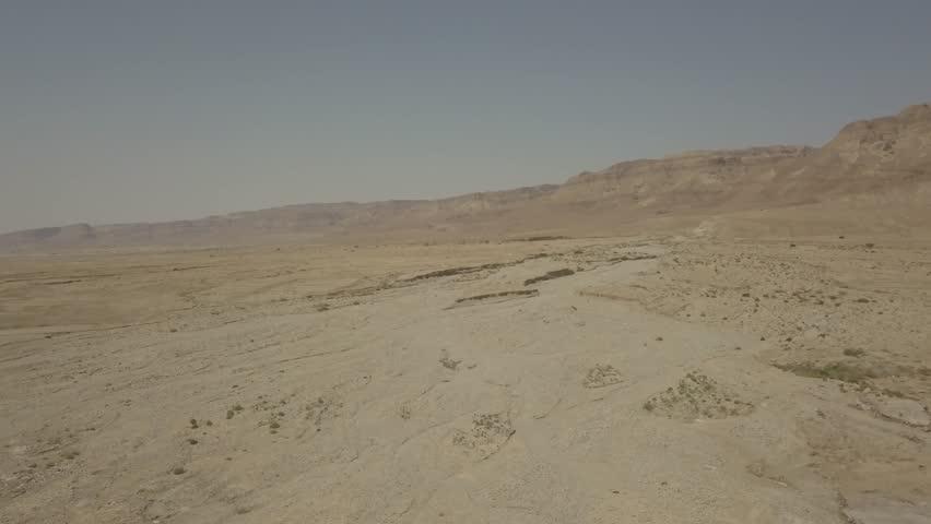 Dead sea desert 4k aerial view ungraded flat | Shutterstock HD Video #1011483176