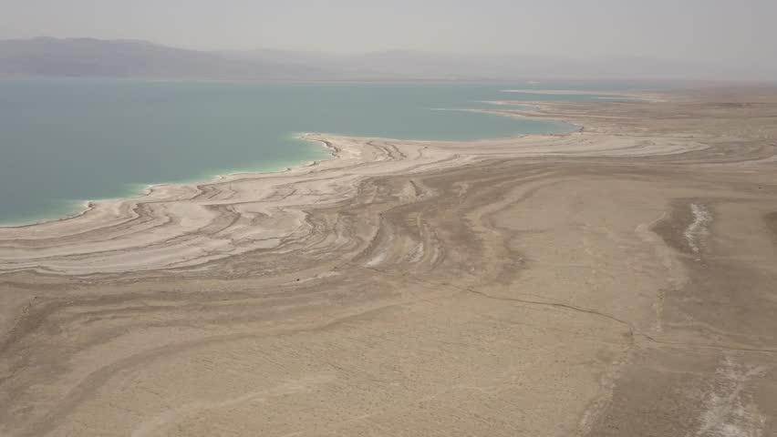 Dead sea desert 4k aerial view ungraded flat | Shutterstock HD Video #1011483206