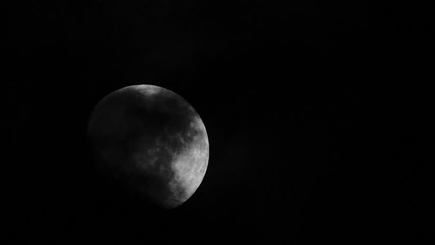 Movement of moon with clouds passing by. | Shutterstock HD Video #1011494216