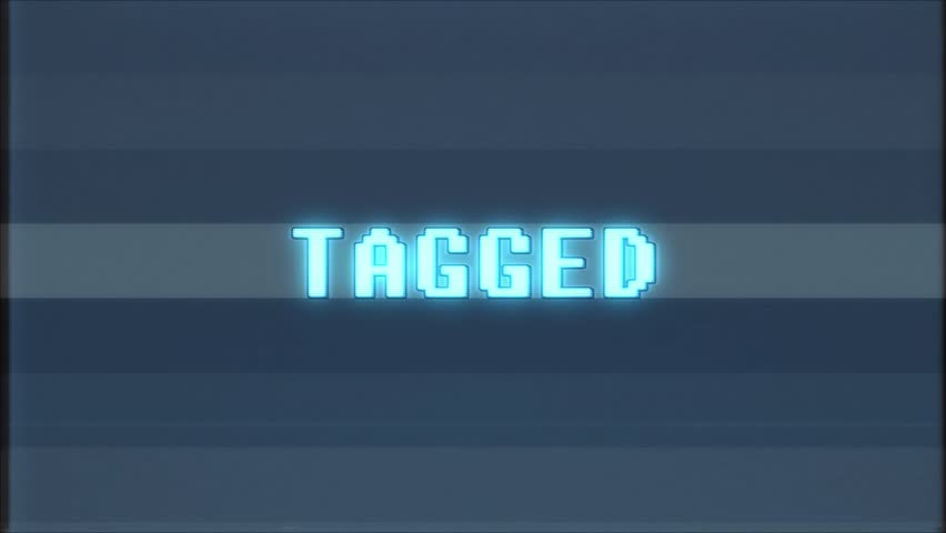 Retro videogame TAGGED word text computer tv glitch interference noise screen animation seamless loop New quality universal vintage motion dynamic animated background colorful joyful video m   Shutterstock HD Video #1011505436