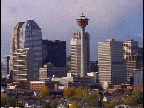 CALGARY, 1999, Calgary Alberta, medium close up downtown