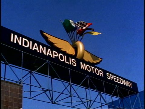 INDIANA, 1999, Indianapolis Motor Speedway, sign above entrance