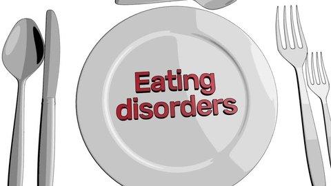 Eating disorders animation cartoon