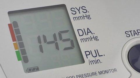 modern household digital blood pressure monitor, close-up