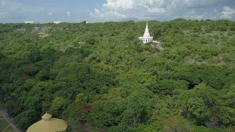 Stupa and Temple Hall, Asadang Nimit Temple at Ko Sichang, Sriracha, Chonburi, Thailand