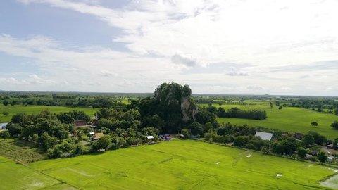 Fly Through Mountain at Phitsanulok