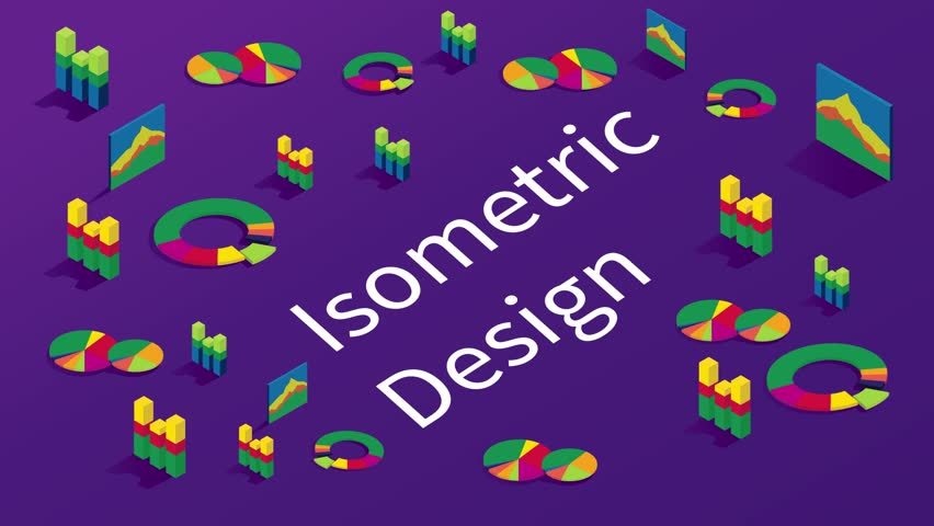 Isometric infographic for presentations video. Flat 3d design animation. Set of infographics with, Diagrams and other Vector Elements for Data and Statistics Presentation. Geometric stock footage   Shutterstock HD Video #1011732416