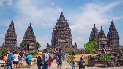Hyperlapse of the UNESCO Prambanan Main Temple, Yogyakarta, Indonesia