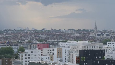 Cityscape of Nantes before the storm