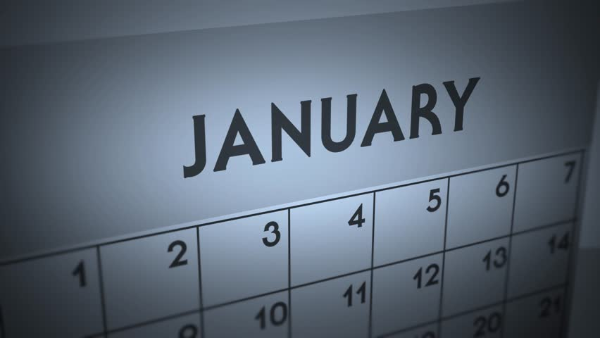 Dark Ominous Calendar Page animation - January | Shutterstock HD Video #1011964796