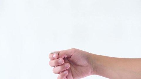 Hand gestures coin flip