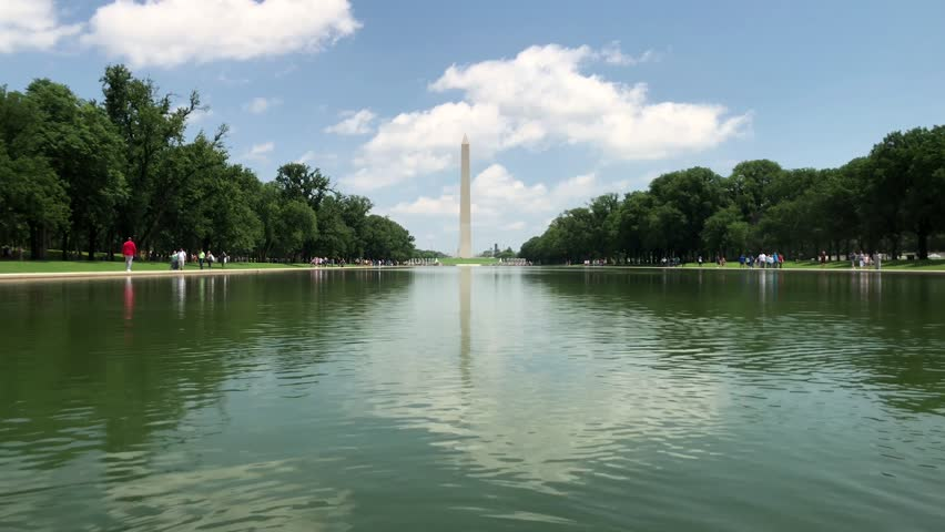 Ripple of Water in the Reflecting Pool at the Washington Monument in Washington, D.C. | Shutterstock HD Video #1012046846