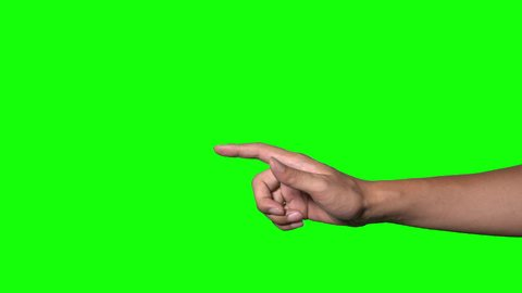 human hand on green background.