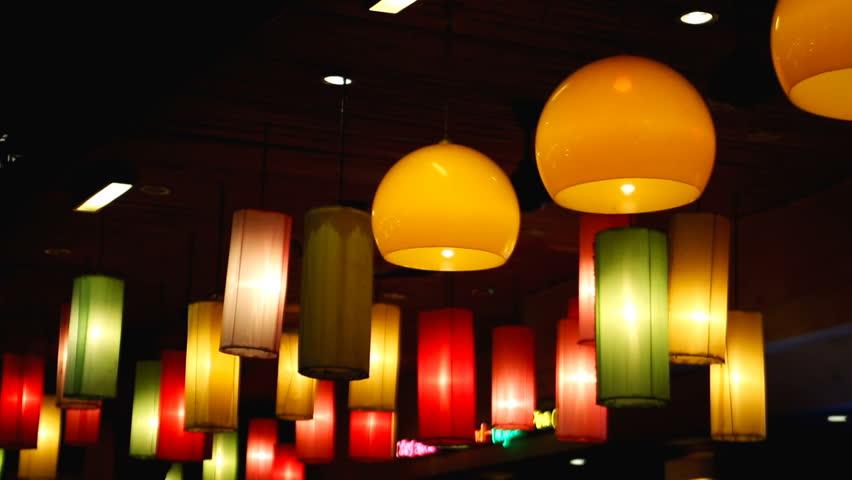 Beautiful Lights Lamps Festive Stock Footage Video 100 Royalty Free 1012111346 Shutterstock