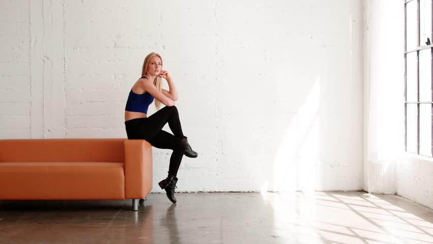 Female Hip Hop dancer in slow motion. #1012218446