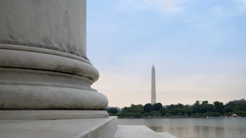 Washington Monument view from Jefferson Memorial Washington DC