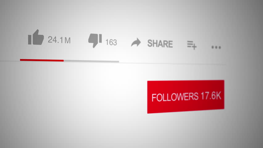Close up of Social Media User Interface a Video Likes, Dislikes, Followers Counter - Quick Increasing  - Influencer | Shutterstock HD Video #1012410866