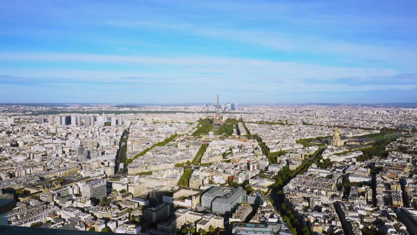 Eiffel Tower and Paris cityscape | Shutterstock HD Video #1012449116