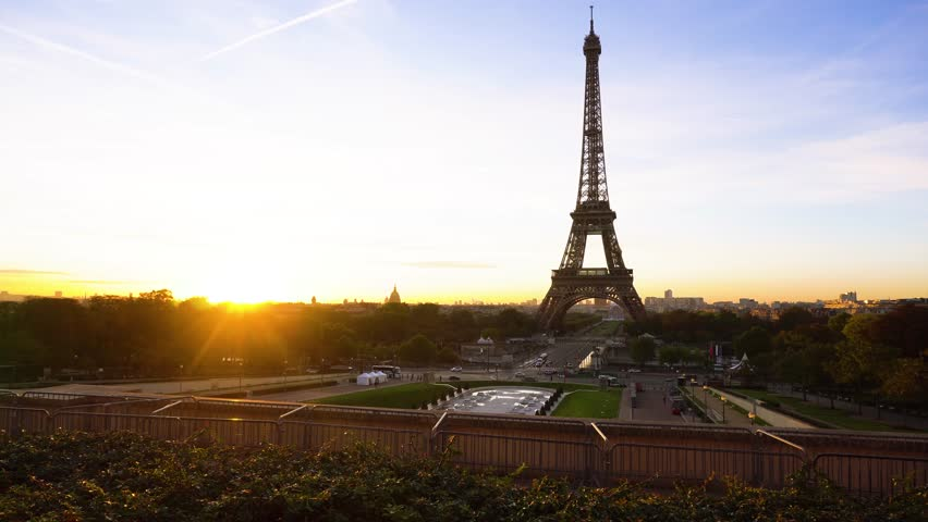 Eiffel tour and from Trocadero, Paris | Shutterstock HD Video #1012449146