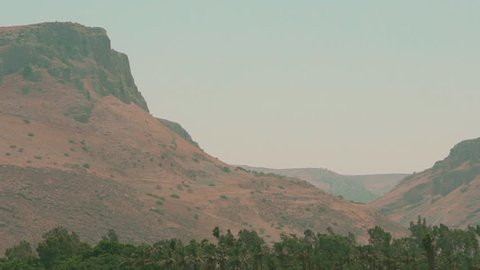 Mountain Plateau Loom over the Sea of Galilee