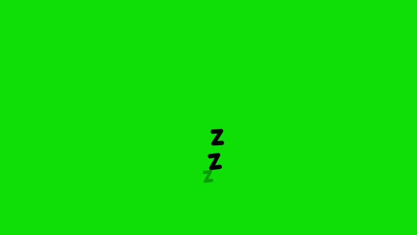 Cartoon sleeping zzz on green screen background. | Shutterstock HD Video #1012484546