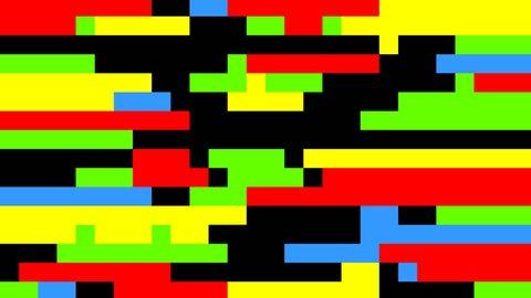 Animation with tetris on black background.
