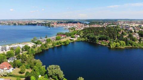Aerial view of the City of Waren (Müritz), Mecklenburg-Vorpommern, Germany