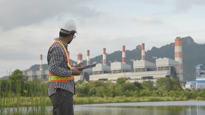 Engineering plants to generate electricity. Mae moh powerplants Lampang Thailand.