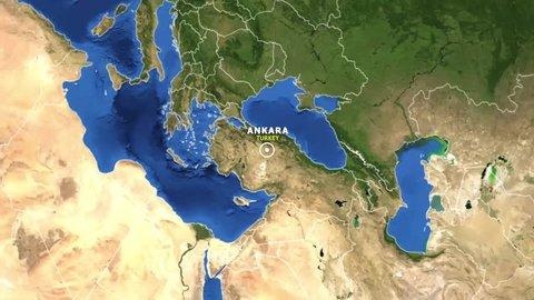 TURKEY ANKARA ZOOM IN FROM SPACE