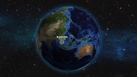 THAILAND RANONG ZOOM IN FROM SPACE