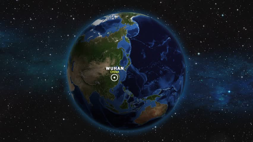 CHINA WUHAN ZOOM IN FROM SPACE | Shutterstock HD Video #1012733396