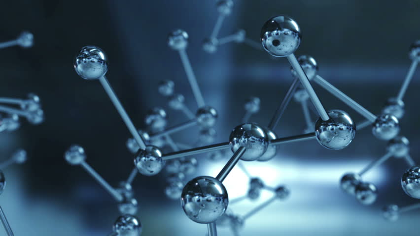 Animation rotation of model molecule from glass and crystal. | Shutterstock HD Video #1012853036