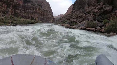 Lava Falls Rapids are the most feared in Grand Canyon Rafting. Excited voices testify the anticipation and outcome when raft is been pushed around.
