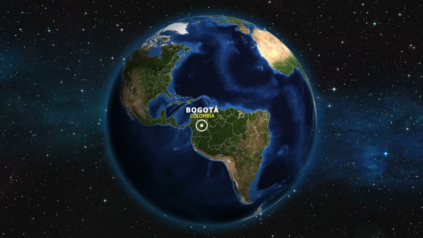 COLOMBIA BOGOTA ZOOM IN FROM SPACE | Shutterstock HD Video #1012892666