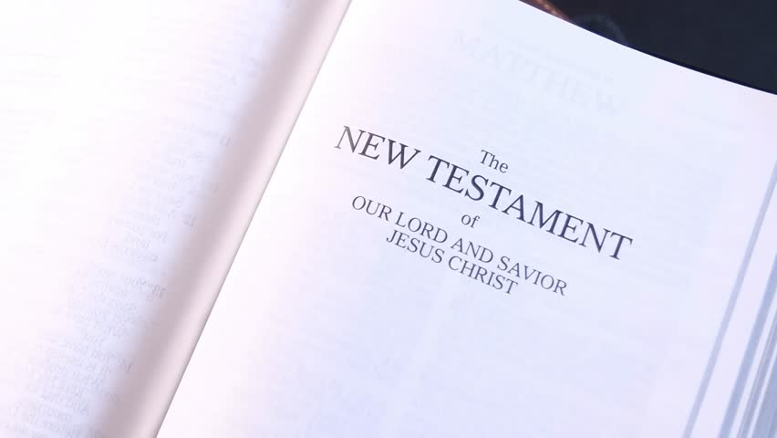 The New Testament Title Page in the Holy Bible 03 | Shutterstock HD Video #1012948586