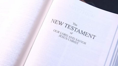 The New Testament Title Page in the Holy Bible 03