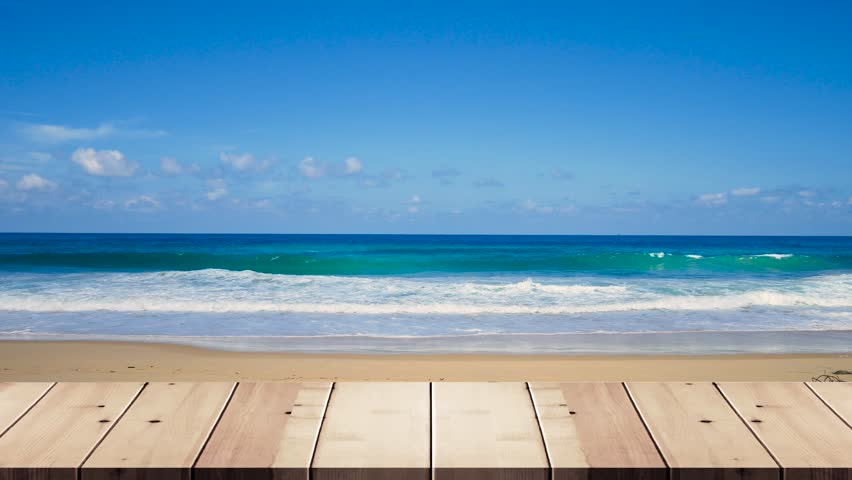Table on outdoor beach backgrounds | Shutterstock HD Video #1012956806