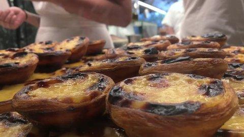 """Traditional portuguese cakes - cream cake """"pasteis de nata"""" or """"pasteis de Belem"""""""