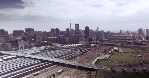 Johannesburg City Bridge Aerial