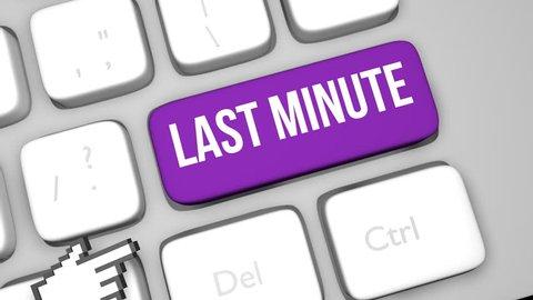 Last Minute keyboard key animation