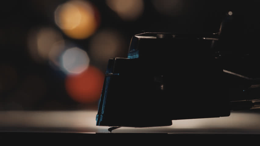 Macro Shot Of A Turntable Cartridge And Stylus Starting To Play A Vinyl Record. | Shutterstock HD Video #1013232296