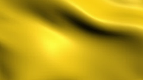 Animated golden satin fabric background waving in a breeze