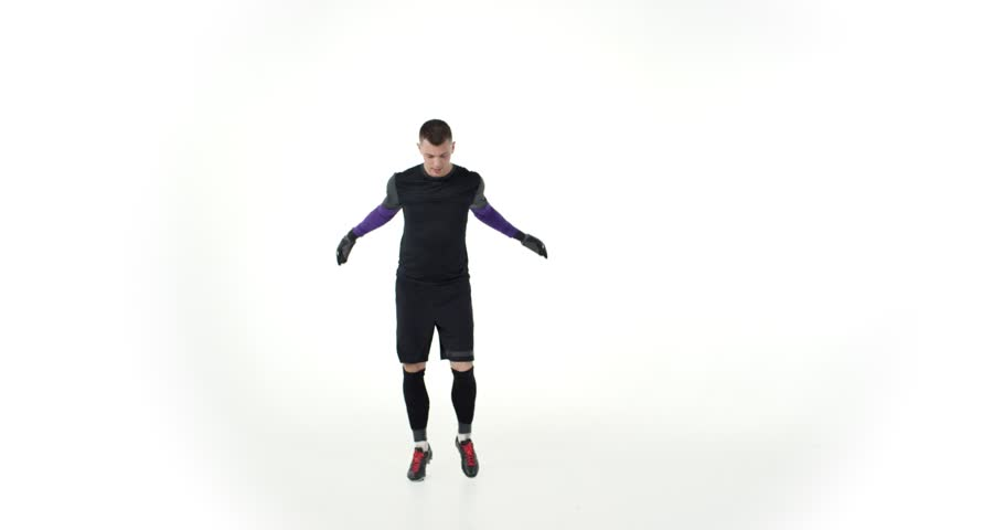Male goalkeeper does the stretching   Shutterstock HD Video #1013248466