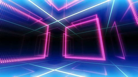 disco club room space illumination neon light floor wall